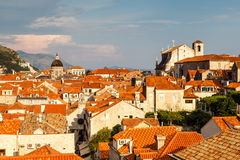 View of Dubrovnik Rooftops from the City Walls Stock Photos