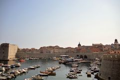 View of Dubrovnik`s harbor stock images