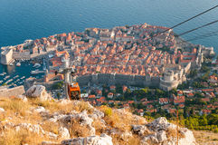 View of Dubrovnik from Srd mountain Stock Image