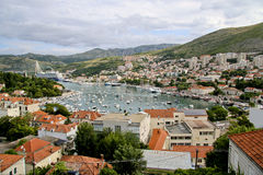 View on Dubrownik. Dubrownik city and harbour in Croatia Stock Photos