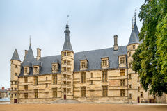 View at the Ducal palce in Nevers Stock Image