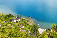 View of Duingt village in in Haute Savoie, Alps, France Stock Images