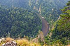 View from the top of Sokolica in Pieniny. Poland stock photo