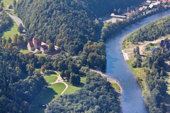 View of the Dunajec river from the top of Three Crowns Mountain, Poland Stock Image