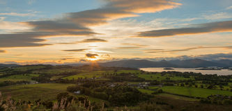 View from Duncryne Hill over Loch Lomond Stock Image