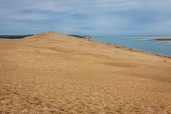 View from Dune of Pilat - the largest sand dune in Europe, Aquit Royalty Free Stock Photography