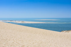 View from Dune of Pilat - the largest sand dune in Europe Royalty Free Stock Images