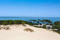 View from Dune of Pilat - the largest sand dune in Europe Royalty Free Stock Photo