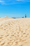 View from Dune of Pyla, Arcachon Bay. View from the highest dune in Europe - Dune of Pyla (Pilat), Arcachon Bay, Aquitaine, France Stock Photography
