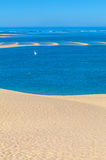 View from Dune of Pyla, Arcachon Bay. View from the highest dune in Europe - Dune of Pyla (Pilat), Arcachon Bay, Aquitaine, France Stock Images