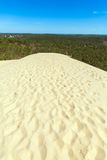 View from Dune of Pyla, Arcachon Bay. View from the highest dune in Europe - Dune of Pyla (Pilat), Arcachon Bay, Aquitaine, France Royalty Free Stock Image