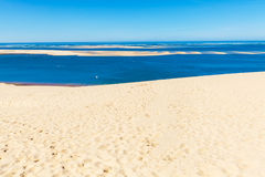 View from Dune of Pyla, Arcachon Bay Royalty Free Stock Image