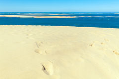 View from Dune of Pyla, Arcachon Bay Royalty Free Stock Photography