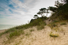 View of the dunes at baltic sea Stock Photo