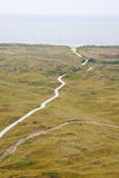 View at dunes and sea in Ameland Stock Photography