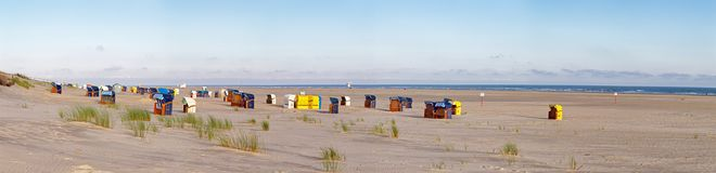 Beach on Juist Royalty Free Stock Images