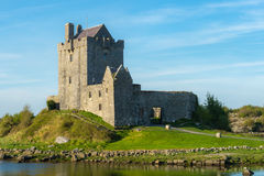 View on Dunguaire castle on a sunny spring evening. Stock Photos