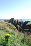 View of Dunnottar Castle Stock Photography