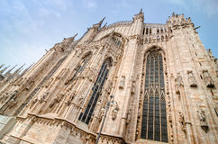 View of Duomo cathedral in Milano, Italy Stock Photography