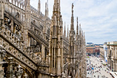View from the Duomo cathedral on Piazza del Duomo. Stock Photo