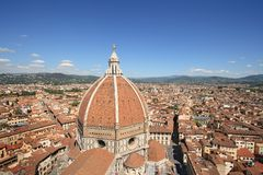 View of the Duomo and the city of Florence Royalty Free Stock Images