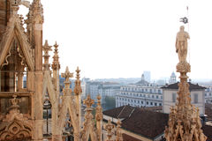 View from the Duomo di Milano, Italy Stock Photos