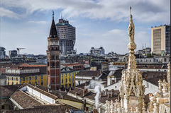 View from the Duomo di Milano in Italy Royalty Free Stock Images
