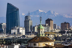 View from the Duomo di Milano in Italy Stock Image