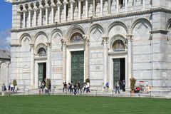 View of Duomo entrance in Pisa Stock Photography