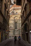 View the Duomo, Famous Santa Maria del Fiore cathedrall, Florence, Italy Royalty Free Stock Photos