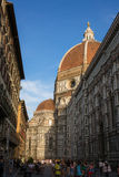 View the Duomo, Famous Santa Maria del Fiore cathedrall, Florence, Italy Royalty Free Stock Photography