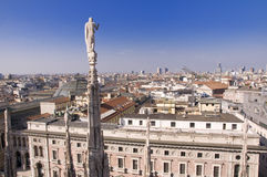View from Duomo, Milan Royalty Free Stock Images