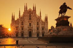 View of Duomo at sunrise Royalty Free Stock Image