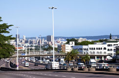 View of Durban CBD with Harbour in Background Stock Images