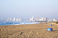 View of Durban's City Skyline from La Lucia Beach Royalty Free Stock Image