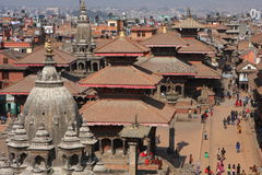 View of the Durbar Square stock image
