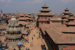 View of the Durbar Square, Patan Royalty Free Stock Images