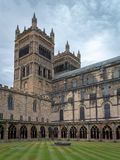 View of Durham Cathedral. Built in the late 11th and early 12th. Durham, United Kingdom - July 30, 2018: View of Durham Cathedral. Built in the late 11th and royalty free stock image