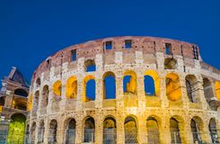 Dusk view of Colosseum in Rome, Italy Stock Photography