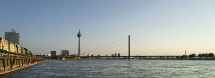 View of Dusseldorf in Germany during sunset Royalty Free Stock Image