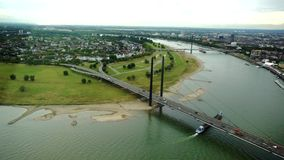 View of Dusseldorf from height stock footage