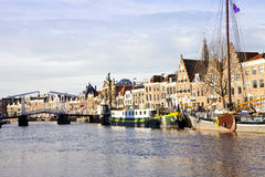 View at Dutch canal Royalty Free Stock Photo