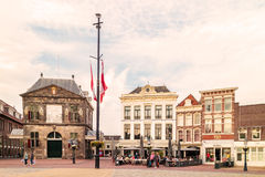 View at the Dutch central square with hotels, bars and restauran Royalty Free Stock Image