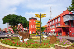 View of Dutch Square in Malacca. Malacca, Malaysia - Sep 2, 2015. View of Dutch Square in the historic center of Malacca. Malacca was included in the list of Royalty Free Stock Photos