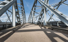 View at Dutch truss bridges Stock Photography