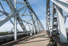 View at Dutch truss bridges Stock Photo