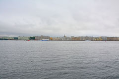 View of Dvortsovaya Embankment from Peter and Paul Fortress in Saint Petersburg, Russia Stock Photography