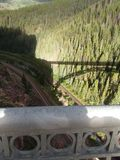 View from eagle River Bridge Colorado rocky mountains August 2017 Stock Photos