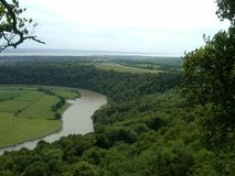 View from Eagles Nest of River Wye and Wye Valley Royalty Free Stock Photo
