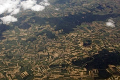 View of earth. From an airplane window Stock Image